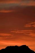 Sunset in Sonoran Desert of Arizona