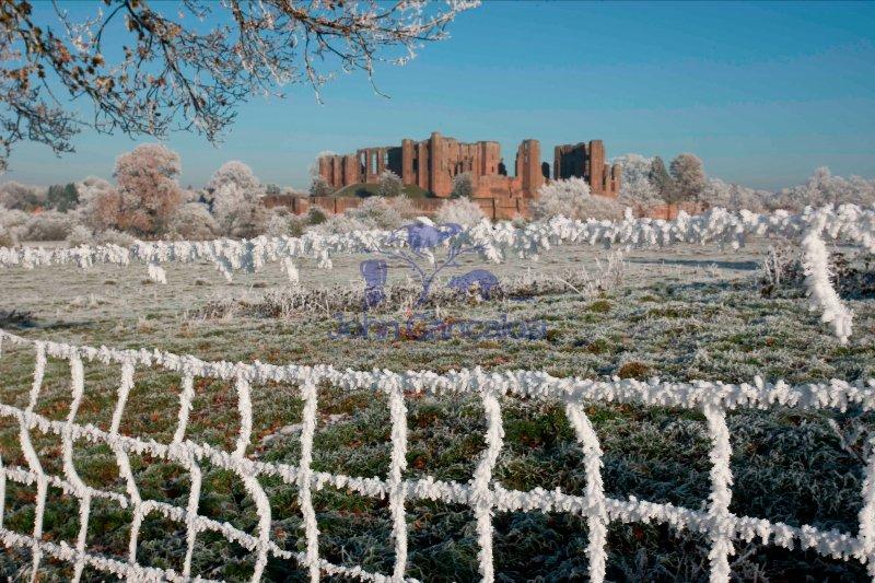 Hoarfrost - Warwickshire - England - Showing Kenilworth Castle