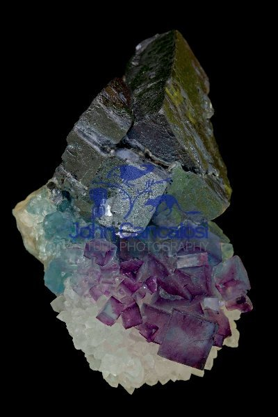 Fluorite - Galena and Quartz - New Mexico - USA