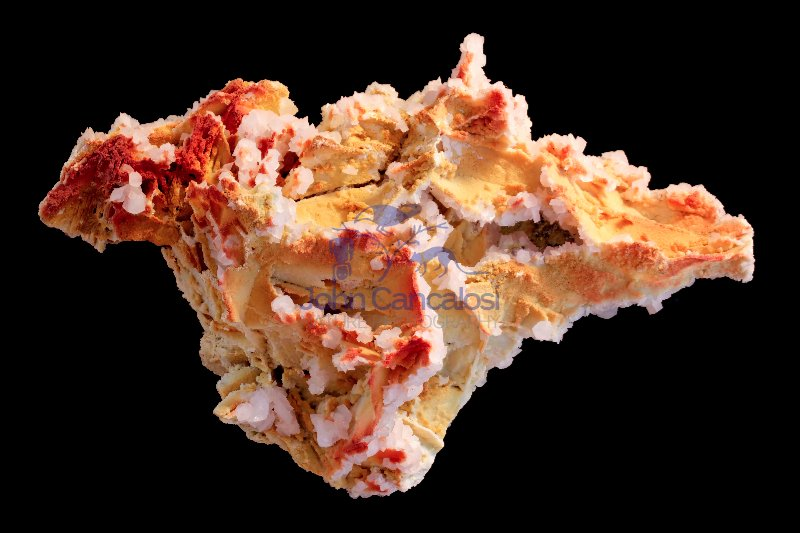Manganoan calcite(red) - ferromanganoan dolomite(yellow) - Bulga