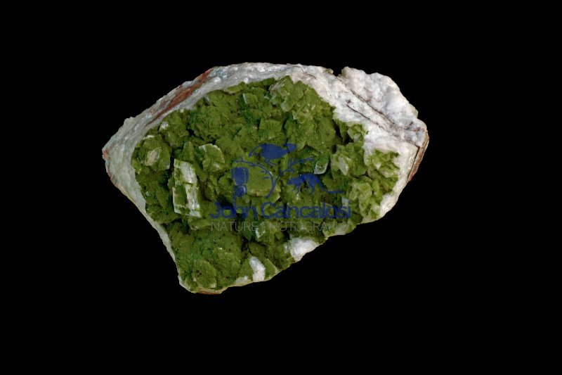 Duftite on Calcite - Tsumeb - Namibia