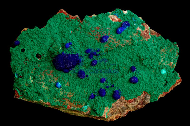 Azurite and Malachite - Bisbee - Arizona