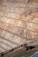 Bingham canyon mine - Utah - one of the biggest open pit copper