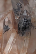 Quartz -Arkansas USA - with galena inclusions