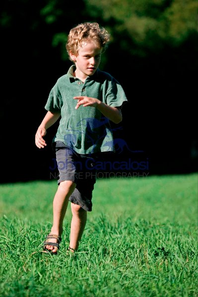 Boy running - Pennsylvannia - USA