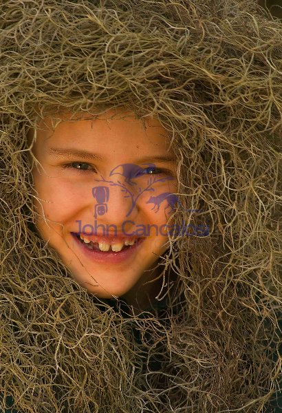 Child with Spanish Moss-Louisiana-model released