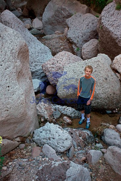 Young Hiker in Aravaipa Canyon Wilderness - Arizona - USA
