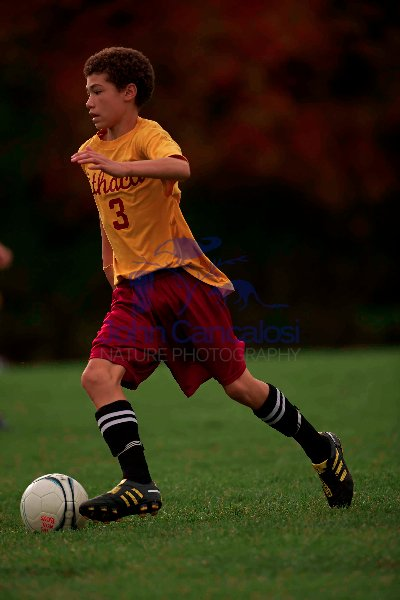Boy playing soccer (football) - New York - USA- Model released