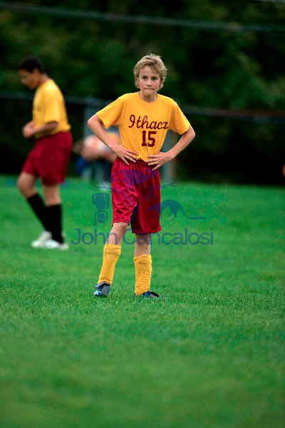 Boy Age 12 Playing Soccer - New York USA