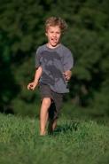 Boy running - Pennsylvannia - USA