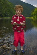 Child and Hellbender-Pennsylvania-model released