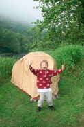 Child and tent-model released