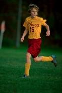 Boy Age 12 Playing Soccer - New York - USA