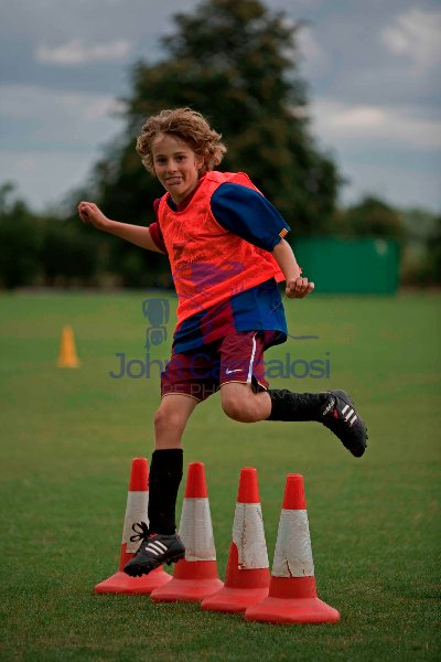 Boy Practicing Soccer - England - UK