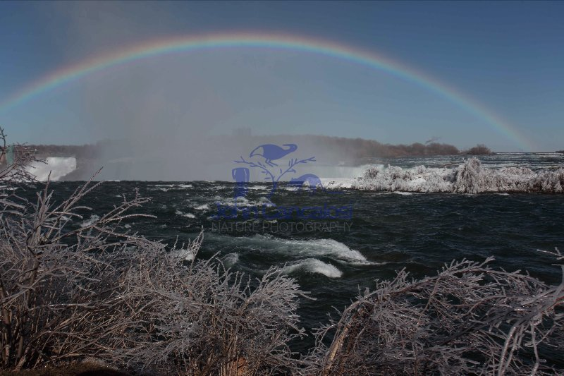 Niagara River With Rainbow - Above Horseshoe Falls - Canada