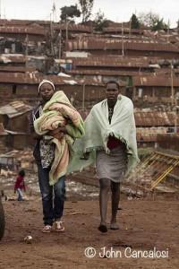 Kibera, Africa's largest slum, near Nairobi, Kenya